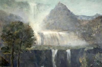 Amerigo Bartoli, (Terni 1890-Roma 1971), Cascata delle Marmore, 1966