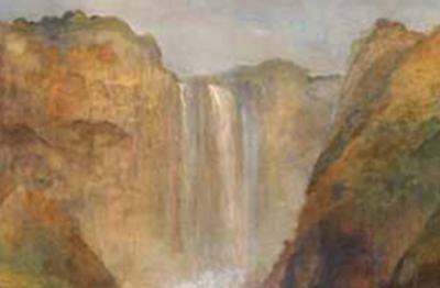 Carlo Bossoli, (Lugano 1815-Torino 1884), Cascata della Marmore, 1856