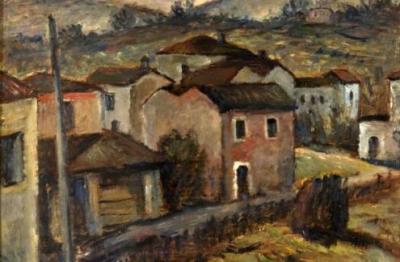 Ugo Castellani, (Terni 1890-1957), Paesaggio umbro, 1933
