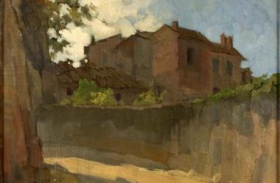Ugo Castellani, (Terni 1890- Roma 1957), Vecchie case, 1930