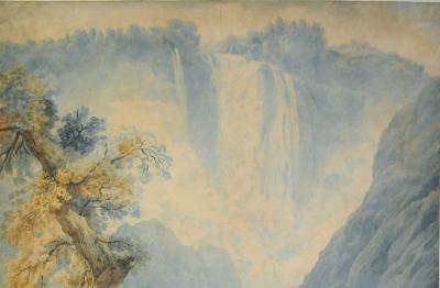 Abrahm Louis Rodolphe Ducros (Moudon 1748-Losanna 1810) Cascata delle Marmore presso Terni, 1785