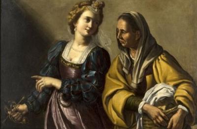 Antiveduto Gramatica (attr.), (Siena 1571-Roma 1626), Giuditta e l'ancella