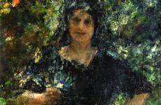 Antonio Mancini, (Roma 1852-1930), Figura in giardino (La Spagnola)