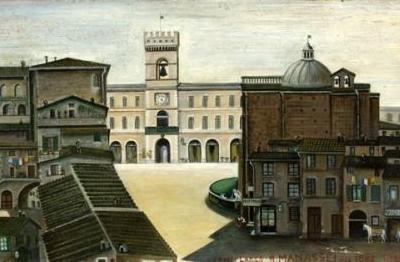 Orneore Metelli, (Terni 1872-1938), Largo Barnaba Manassei a Terni nel 1882