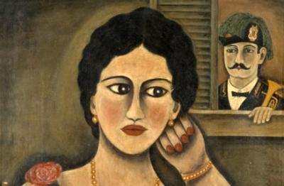 Orneore Metelli, (Terni 1872-1938), La serenata, 1928
