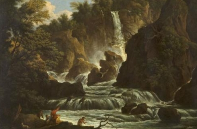 Cerchia di Claude Joseph Vernet (attr.), (Avignone 1714-Parigi 1789), Cascata delle Marmore